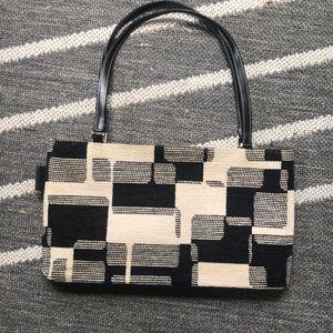 KATE SPADE • Chenille Black & White handbag 👜